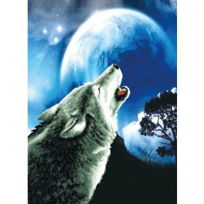 LADYBIRD Stickset Howling Wolf 46,4x63 cm