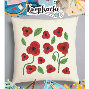 Punch Needle Kit Polster Mohnblume