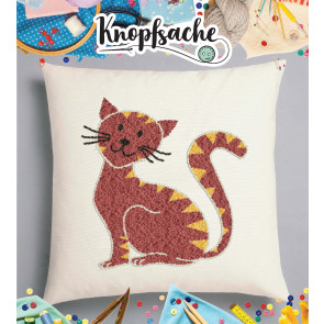 Punch Needle Kit Polster Katze