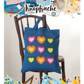 Punch Needle Kit Tasche Herzen