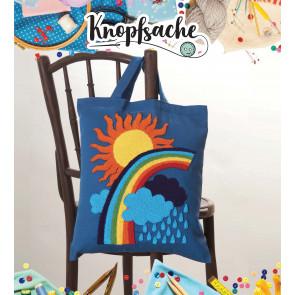 Punch Needle Kit Tasche Regenbogen