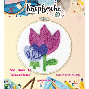 Punch Needle Kit Rahmen Blumen