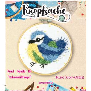 Punch Needle Kit Rahmen Vogel