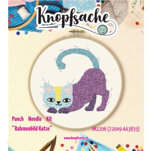 Punch Needle Kit Rahmen Katze