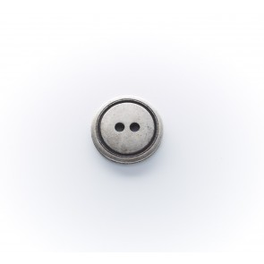 11mm Knopf 2-loch, galv. beidseitig