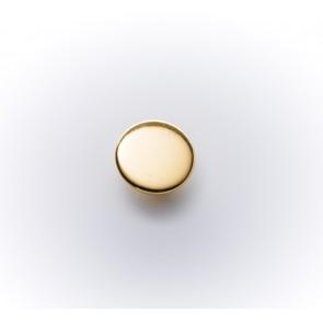 10mm Knopf Met.m.Öse,glatt,rf,gold*