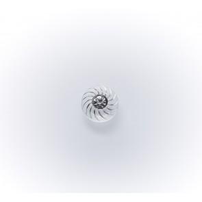 11mm Glasknopf mit Straßstein *