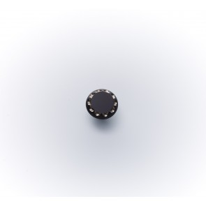 11mm Glasknopf s.m.Straßsteinchen *