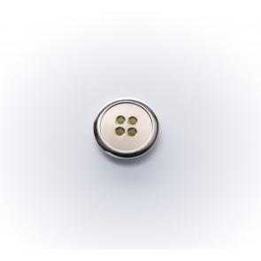 14mm Metallknopf rf, hellsilb,altsilb