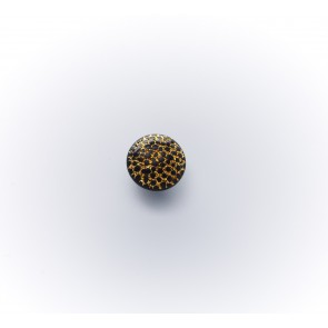 11mm Glasknopf schwarz/gold *