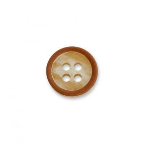 10mm Hemdknopf f. Kragen,  melé, 4-loch