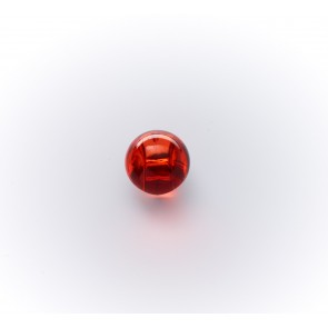 10mm Polyesterkugelknopf m.Öse - glasklar ,gef