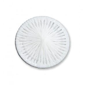 15mm Zwirnknopf, 100% Baumwolle, weiß