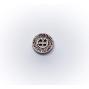 12mm Knopf metallisiert (galv.) *