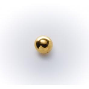 10mm Knopf Halbkugerl galv., gold