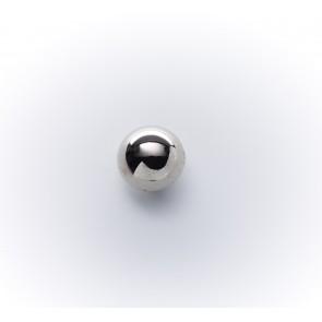 10mm Knopf Halbkugerl galv. silber