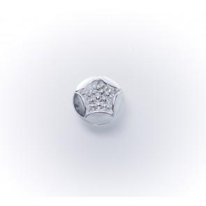11mm Glasknopf bedampft silber m.Ö*