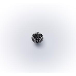 11mm Glasknopf altsilber *