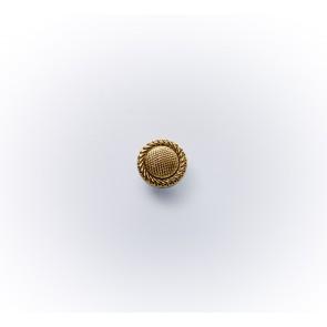 11mm Glasknopf bedampft altgold *