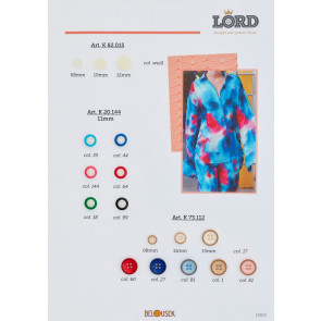 11mm Knopf Blusen/Hemd 4-loch, gefärbt