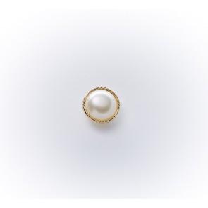 11mm Chanelknopf mit Öse/Perle weiß