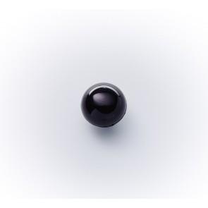 7mm Kugelknopf abgeflacht Nyl.schwarz gef.