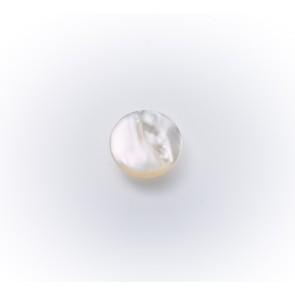 10mm PerlmuttknopfIa,Klebeöse,weiß