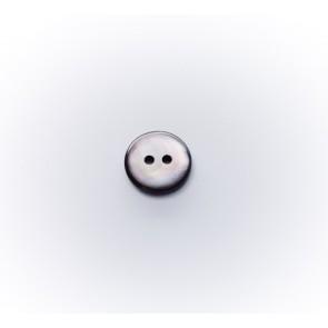 10mm PerlmutterknopfBomb.2-loch grau