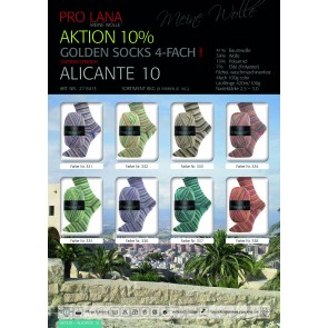PRO LANA Golden Socks Alicante 10 10x100g*