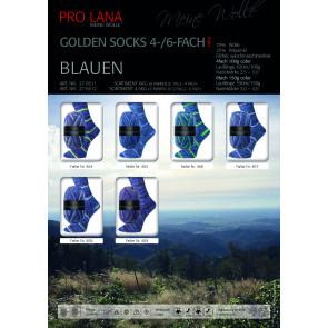 PRO LANA Golden Socks Blauen 6f. 150g