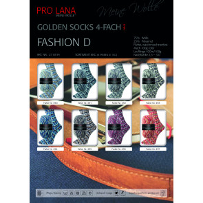 PRO LANA Golden Socks Fashion D 4f. 100g
