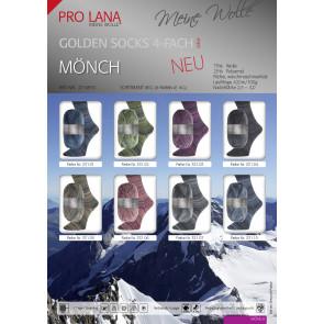 PRO LANA Golden Socks Mönch 4f. 100g. 8kg