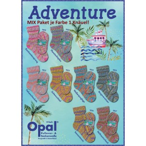 Opal Adventure 4-fach Mix (8x1Knäuel)