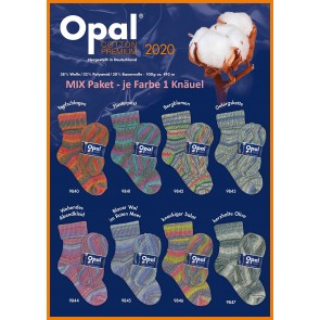 Opal Cotton Premium 2020 4-fach Mix (8x1Knäuel)