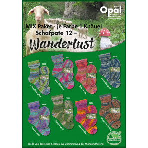 Opal Schafpate 12 Wanderlust 4-fach Mix (8x1Knäuel)
