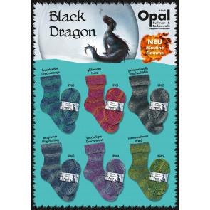 Opal Black Dragon Mouliné Flamme 4-fach Sortiment