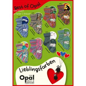 Opal Lieglingsfarben 4-fach Mix (8x1Knäuel)