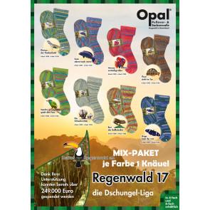 Opal Regenwald 17 6-fach Mix (8x1Knäuel)