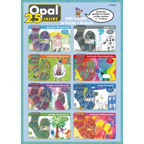 Opal Jubiläumskollektion 25 Jahre Opal 4-fach (8x1Knäuel)