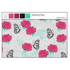 Jersey Butterf. Rose mel. 62%BW/33%PE/5%EA,250gr/qm,150cm