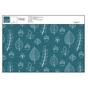 French Terry Foliage 50%BW 45%PES 5%EA, 250gr/qm, 150cm