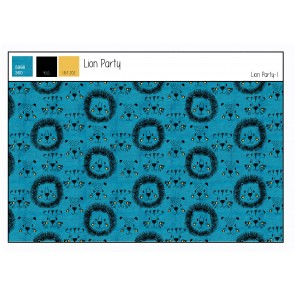 French Terry  Lion Party  50%BW 45%PES 5%EA, 250gr/qm, 150cm