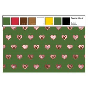 Jersey Bavarian Heart  95%BW 5%EA, 250gr/qm, 150cm