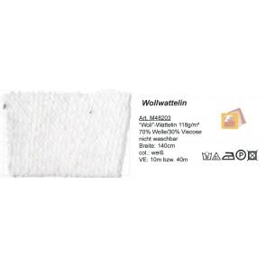 Wollwattelin weiß     140cm 48