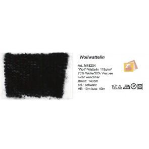 Wollwattelin schwarz  140cm 48