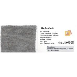 Wollwattelin grau     140cm 48