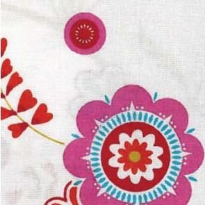 BW-Stoff Blume rund m. Muster 100%Bw. 140cm