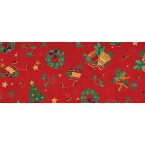BW-Stoff Weihnachten Glocke 100%Bw. 140cm*