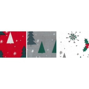BW-Stoff Weihnachten Baum 100%Bw. 140cm