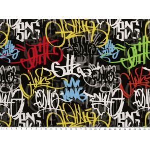 BW-Jersey Dig. Dr. Graffiti 95%CO 5%EA, 155cm